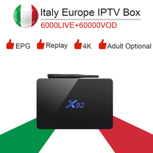 Buy Android tv box Italy Europe IPTV Spain French UK Germany USA Adult IPTV subscription x92 32GB Rom Amlogic S912 smart ip tv Box for $111.20 in AliExpress store