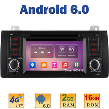 "7"" 1024*600 Quad Core 2GB RAM 16GB ROM 4G LTE SIM WIFI Android 6.0 Car DVD Player Radio For BMW 5 E39 X5 E53 M5 Range Rover USB"