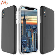 for iPhone X Case Black Luxury Thin Cover For iPhone 8/8 Plus TPU Back Cover For iPhone 10/7 /6/6s Plus Phone Case Slim for Men(China)