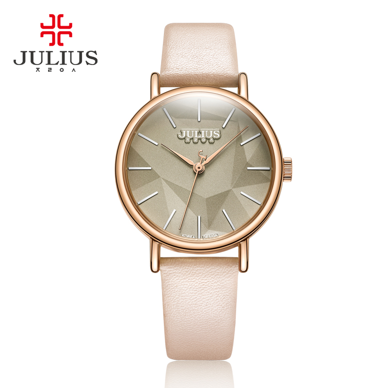 JULIUS Women Watches Large Dial Fashion Casual Simple Reloj Mujer Waterproof Quartz Wristwatches Stainless Steel Leather Clock<br>