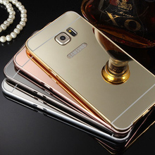 Mirror Case For Samsung galaxy S7 S7 Edge S6 Edge S5 S4 S3 Note 2 Aluminum Bumper Case For iPhone 7 7 plus 6 6S 5S SE back cover