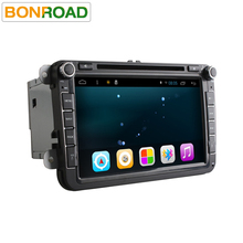 Quad Core 1024*600 Android6.0 16GB ROM 2Din Car DVD GPS Navigation Navigator Radio Player For VW  Skoda Octavia 2