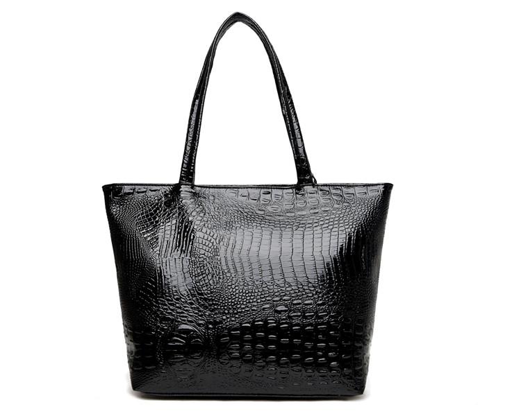 Brand Fashion Casual Women Shoulder Bags Silver Gold Black Crocodile Handbag PU Leather Female Big Tote Bag Ladies Hand Bags Sac 11