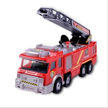 Free Shipping Juguetes Fireman Sam Kids Toys Fire Truck Car With Music Led For Baby Toys Fire Truck Educational Water Spray Toy