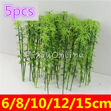 5PCS YL849 Model Tree Bamboo 6cm /8cm /10cm /12cm/15cm Train Set Plastic Trunks Scenery Micro Landscape Garden DIY Tool Parts