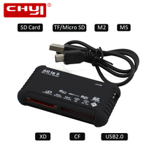 CHYI Black Mini USB 3.0 Card Reader All in 1 Memory CardReader for SD XD MMC MS CF SDHC TF Micro SD M2 Adapter New Arrival(China)