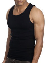 Muscle Men Top Quality 100 Premium Cotton A Shirt Wife Beater Ribbed Tank Top(China)