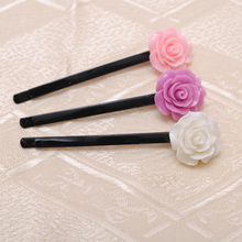 3pc  black hair pins ladies hairgrip fashion New bobby pins hair clips with  floral