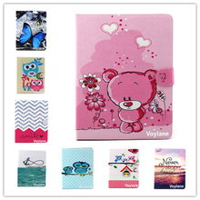 For Apple ipad 2 3 4 Magnetic Auto Wake Up Sleep Flip cartoon owl bear elephant Case For ipad 3/4 Cover with Smart Stand Holder(China)