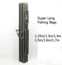 1.3m 1.4m 1.5m 1.6m 1.7 m canvas fishing rod bag super long two layer fishing bag long pole package fishing tackle bags