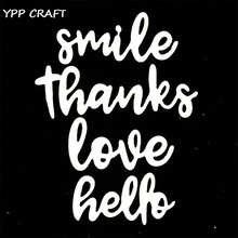 YPP CRAFT Smile Metal Cutting Dies Stencils for DIY Scrapbooking Stamp/photo album Decorative Embossing DIY Paper Cards