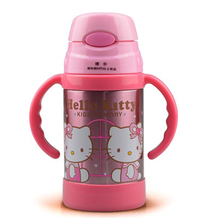 Retail Lovely Girl Cartoon Hello Kitty Stainless Steel Children's 6~12Hours 300ML Vacuum Flask Water Bottles