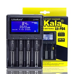 Зарядное устройство Liitokala для аккумуляторов Lii-100 Lii-202 Lii-402 Lii-PD4 с ЖК-экраном, 3,7 В