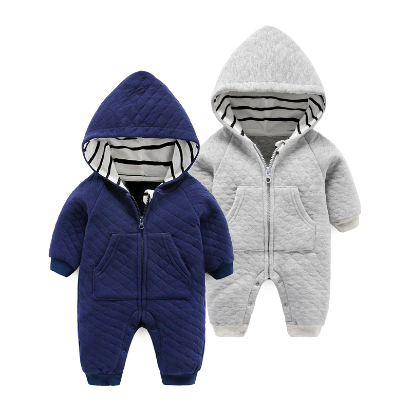 Baby clothes autumn and winter hollow cotton newborn romper long sleeved winter<br>