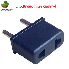 U.S.Brand high quality! EU Plug adaptor plug convertor plug adaptor Travel Adapter Power Converter US to EU power plug convertor