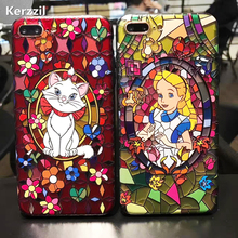 Kerzzil Snow White Mermaid Cute Case For iPhone7 6 6s Plus 3D Relief Cartoon Hard PC Phone Back Cover Case For iPhone X 6 8 6S(China)