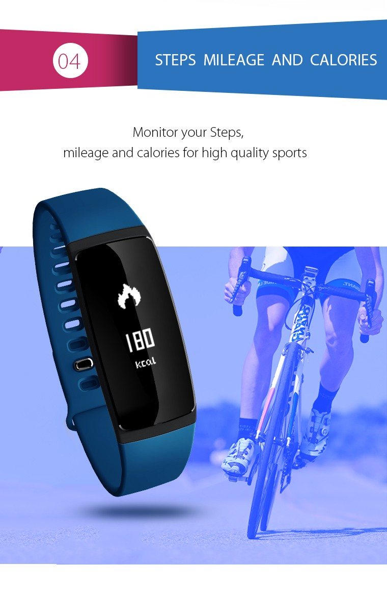 V07 Smart Wristband Band Heart Rate Monitor Blood Pressure Bracelets pedomet Bracelet Fitness Tracker SmartBand For iOS Android 8
