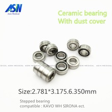 KAVO compatible handpiece bearing dental bearings ceramic balls with dust cover 10pcs stepped bearing(China)