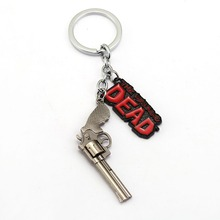 The Walking Dead Keychain Rick Revolver Key Ring Holder Fashion Chaveiro Key Chain Pendant men Gift Jewelry(China)