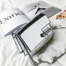 Designer Handbags Silver Mirror Surface Sequined Small Crossbody Women Bags Handbags Brand Mini Messenger Bag Fresh Shoulder Bag