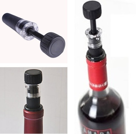 1PC Black Bottle Cap Stopper Reusable Airtight Wine Beer Soda Cork Vacuum Pump Sealer Useful