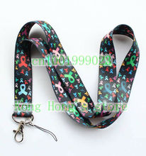 Free shipping 10pcs Red ribbon lanyards mobile phone neck key chain straps accessory H-12(China)