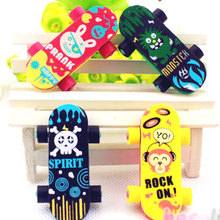 1 pcs lovely skateboard rubber eraser creative stationery school supplies papelaria kids gift learning supplies reward(China)