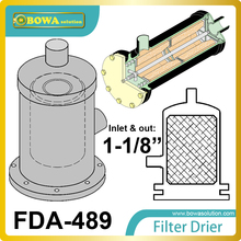 FDA-489 replaceable core filter driers are designed to be used in the liquid and suction lines of air conditioning systems.