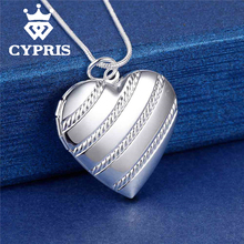 PROMOTION Fashion silver cute Pendant Locket Plate Charm Necklace  women 13 styles Cheap Good quality Wholesale Price CYPRIS