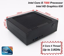 Free shipping! Mini computer with intel core i5 7500 desktop cpu, Dual Channel DDR4 2133 RAM, M.2 2280 NVMe SSD, gaming box