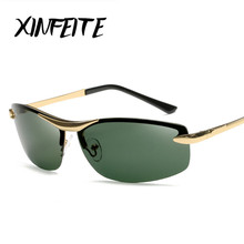 XINFEITE 2017 Hot Sale Fashion Men High Quality Sunglasses Polarized Driving Sun Glasses Retro UV400 Eyewear Male Vintage Oculos(China)