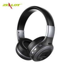 Good quality Original Zealot B19 Stereo Wireless Headset Bluetooth headphone Headband Headset with FM TF LED indicators for mp3(China)