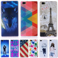 Fashion Personality Painted patterns Soft TPU Back cover For Huawei Ascend P8 Lite Cell Phone Protective Case for Huawei P8 lite