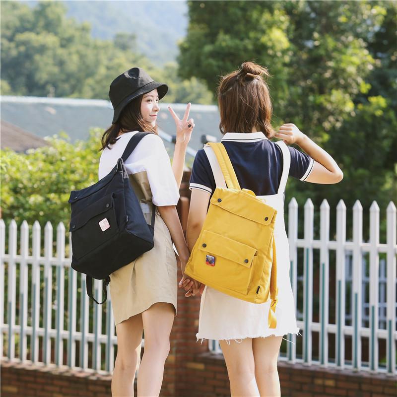 Menghuo Brand Female Women Canvas Backpack Preppy Style School Lady Girl Student School Laptop Bag Cotton Fabric bolsasCMVW7466