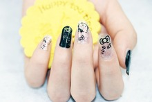 1 Set = Nail Patch+Nail File +Remover Pads Qute Cat Nail Art of Water Transfer Full Nail Sticker Nail Decorations for Manicure