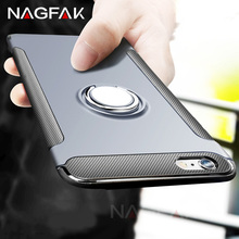 NAGFAK Luxury Shockproof Case For iPhone 6 6s Plus 7 case Metal Ring Holder Combo Phone Cover For iPhone 7 6S 6 Plus Capa Coque