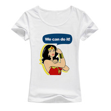 Buy Wonder Woman T Shirt Women 2017 Summer Style Short Sleeves Tee Femme Tops 2017 Fashion Harajuku Brand girl T-shirt A11 for $5.74 in AliExpress store