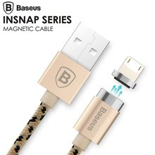Baseus Magnetic Charger Cable Micro USB Cable Adapter Data Sync For iPhone 7 6S Plus 5S SE iPad Air mini Samsung Magnet Charger