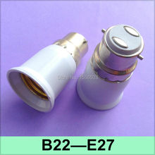 2X E27 B22 Lamp Converter Buld Light Adapter B22 E27 Lamp Base Holder B22 to E27 Fitting Wall Socket