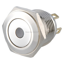 10 pieces 16mm short body LED momentary normal open push button switch,dot illuminated metal pushbutton switch(China)