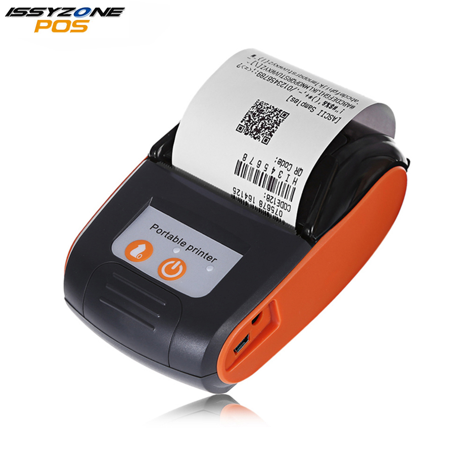 ISSYZONEPOS Android Bluetooth Printer Mobile Wireless Mini Barcode 58mm Thermal Receipt POS Printer iOS Phone Free SDK Software