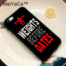 MaiYaCa Gym Girl Fitness Training Funny Quote Phone Cases for iPhone 6 Case Phone Cover for iPhone 6 6s Phone Case Soft TPU Capa(China)