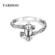 Tardoo New Arrival 100% 925 Sterling Silver Finger Rings for Women Bird Animal Spring Collection Other Rings Brand Fine Jewelry(China)