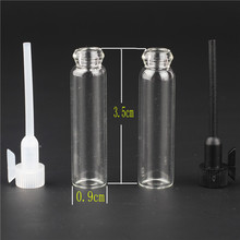 100pcs/lot 1ml Glass Sample Vials Mini Empty Laboratory Bottles With Plastic Stopper Clear Perfume Liquid Oil Fragrance