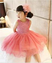 Baby Girl Dress Shinny Tutu birthday Dresses For Girls Kids Party Clothes toddler baby Clothing Baptism dress vestidos infantil