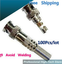 100pcs/lot No-needed Welding video BNC Male Video Plug Coupler Connector to screw for RG59 Monitor video connector