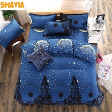 SMAVIA Hot Selling Quality Bedding Sets Starry Sky Printed Quilt Cover Sets 3/4 pcs Duvet Cover Bed Sheet Pillowcase 5 Sizes