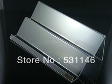 Double layers long shelf Clear Acrylic Mobile cell phone display stand holder racks 20pcs/lot