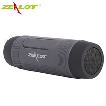 Outdoor waterproof Bluetooth Speaker With LED Flashlight Sport Stereo Wireless portable speakers 4000mAh TF Card Slot zealot
