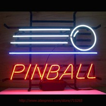Pinball Game Arcade Neon Sign Neon Bulbs Real Glass Tube Lamp Handcrafted Decorate Game Room Ball Signs Advertise Neon VD 19x15